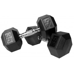 Gympak Rubber Hex Dumbbells