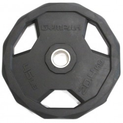 Gympak 295PR Rubber Olympic Grip Plates