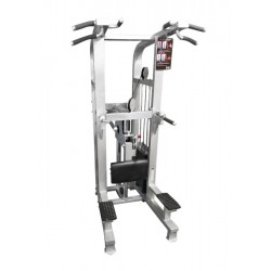 Muscle D Weight Assisted Chin/Dip Combo Machine w/Roller Bearings (MDD-1008A)