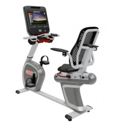 """Star Trac 8 Series Recumbent Bike - Shown with 15"""" Touch Screen Console"""