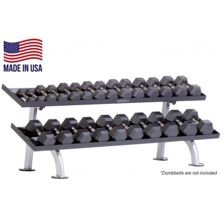 TuffStuff PPF-752T 2-Tier Tray Dumbbell Rack